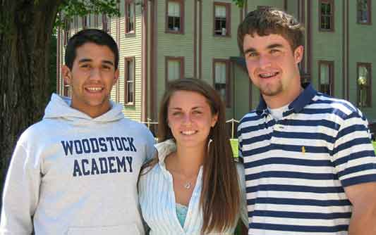 Students athletes at Woodstock Academy