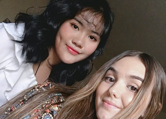 International student, Jenny, with her best friend and roommate
