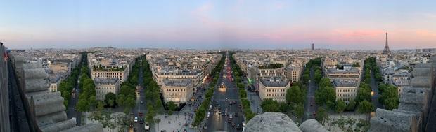Parigi vista dall'alto