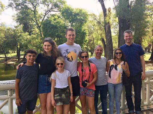 Utvekslingsstudent og den argentinske vertsfamilien