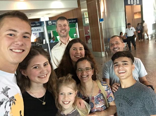 Utvekslingsstudent og vertsfamilien i Argentina