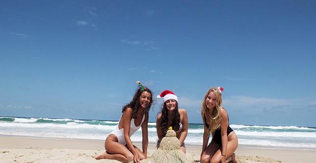 julefeiring på Sunshine Coast i Australia