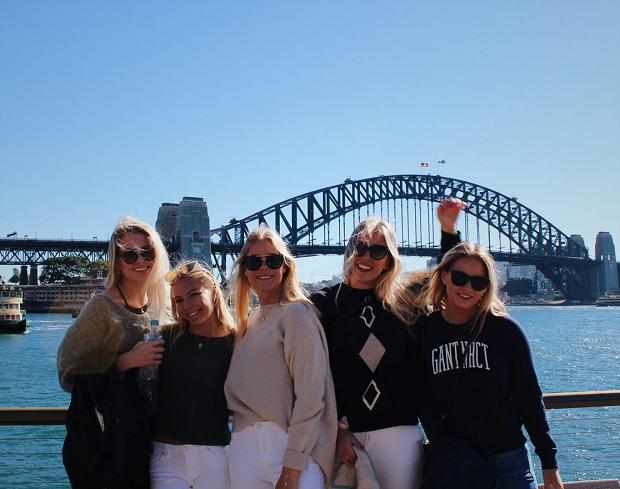 Grupp studenter i Sydney