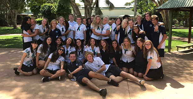 Utvekslingselever på Sunshine Beach State High School