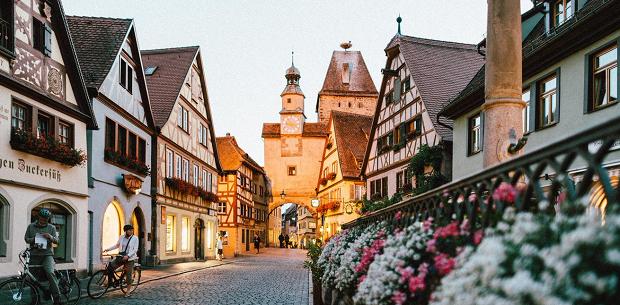 Vakker by i Tyskland