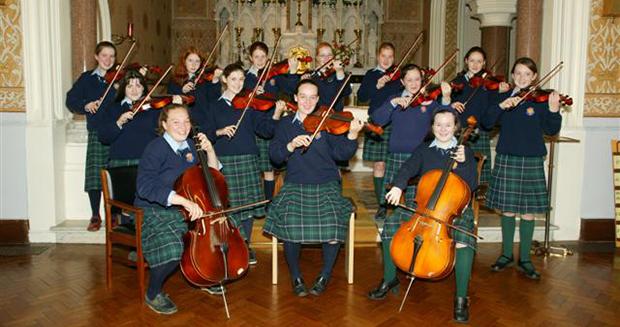 Musikkstudenter på St. Brigid's Secondary School - high school i Kilkenny