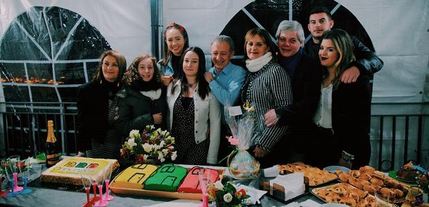 Utvekslingsstudent med vertsfamilien i italia