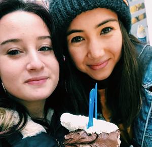 Vaihto-oppilas ystävän kanss Italiassa