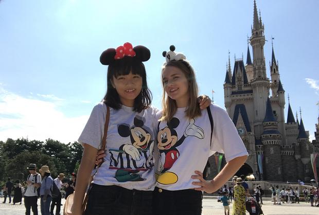 Kompisar på Disneyland