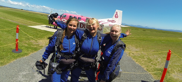 skydiving i New Zealand