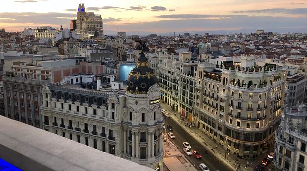 utsikt over Madrid