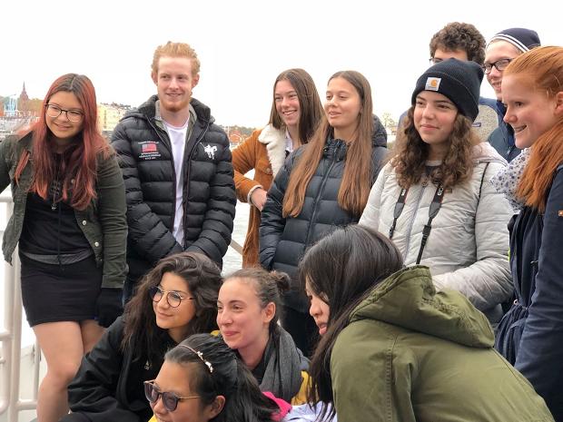 Utbytesstudenter på resa i Stockholm