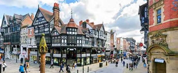 Chesters stadskärna