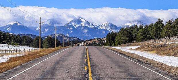 immagine dello stato del Colorado, montagne sullo sfondo