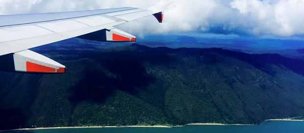 En utvekslingsstudents utsikt fra et fly