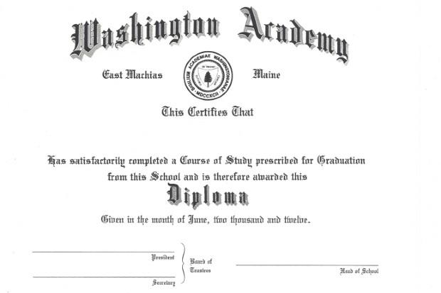Diplom från Washington Academy