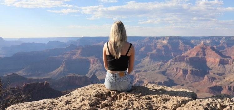 Utbytesstudent vid Grand Canyon