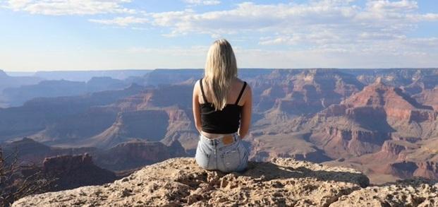 Udvekslingsstuderende på Grand Canyon