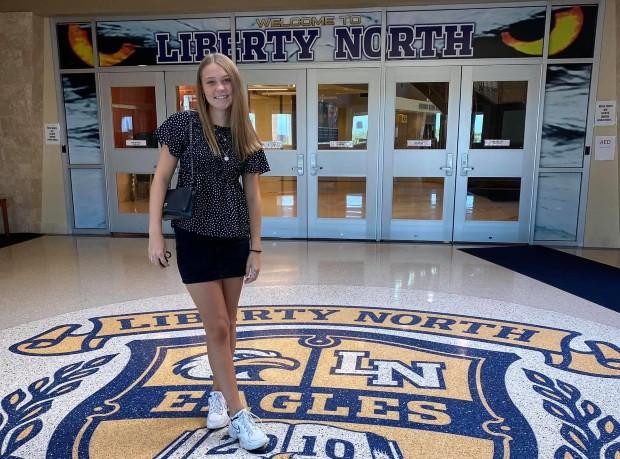 Udvekslingsstudent ved Liberty North High School