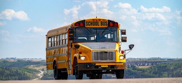 Gul skolbuss i USA
