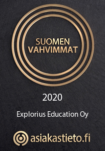 Suomen Vahvimmat 2020 –sertifikaatti, Explorius Education Oy