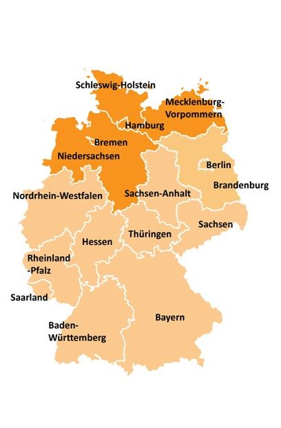 map of northern germany