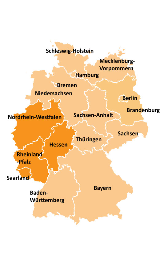 map of western germany