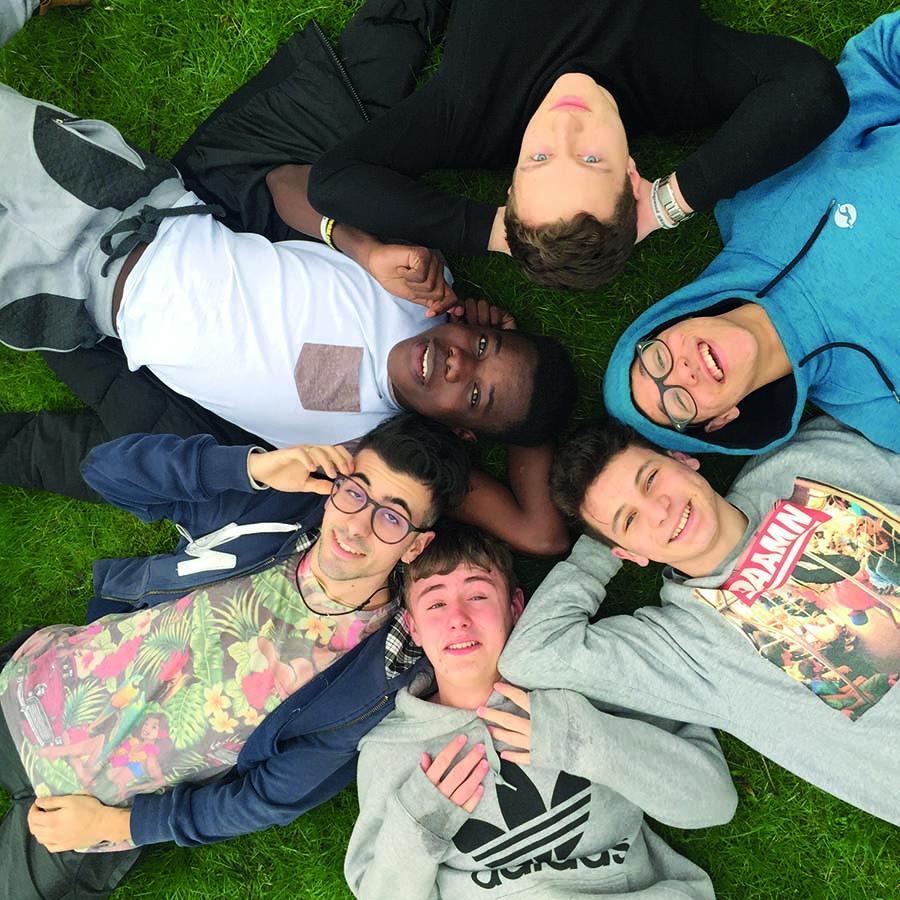Gruppe med utvekslingsstudenter