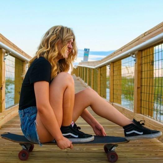Udvekslingsstudent på skateboard