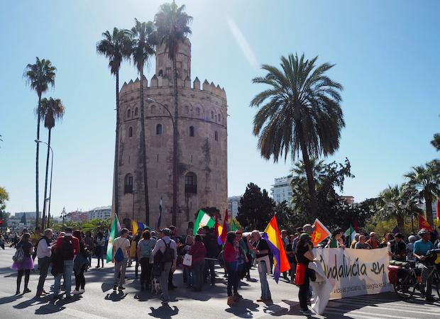 Katunäkymä Sevillasta