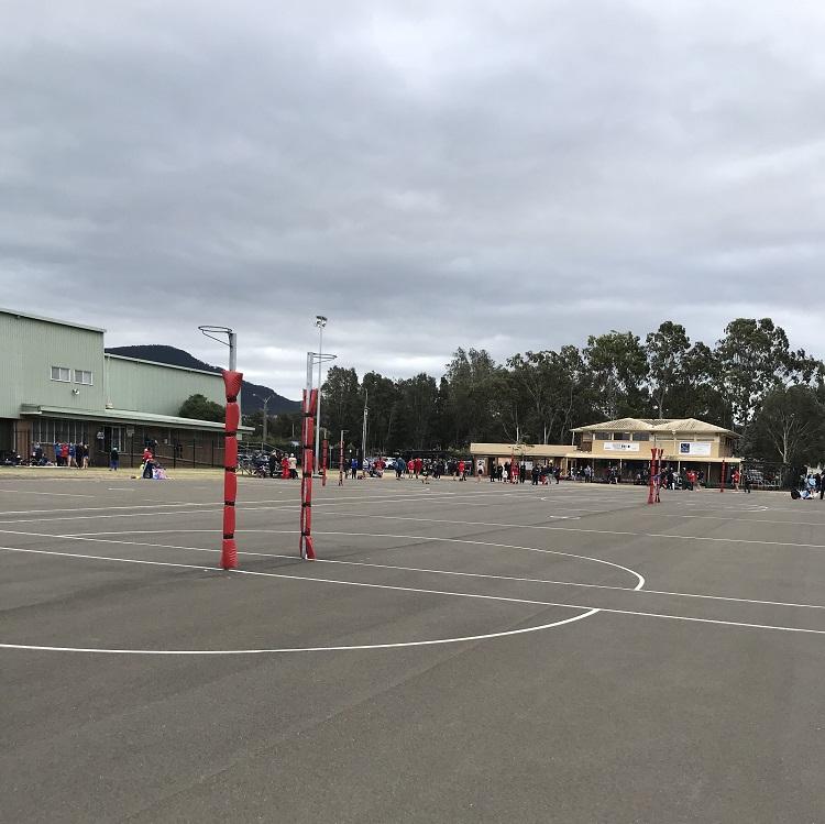 Australialaisen koulun piha