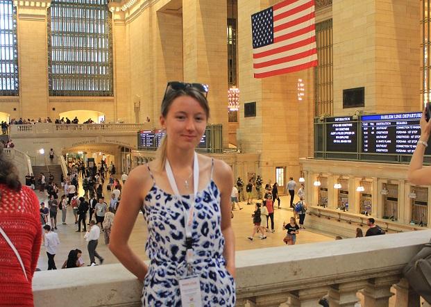 Vaihto-oppilas New Yorkissa Grand Central Stationilla