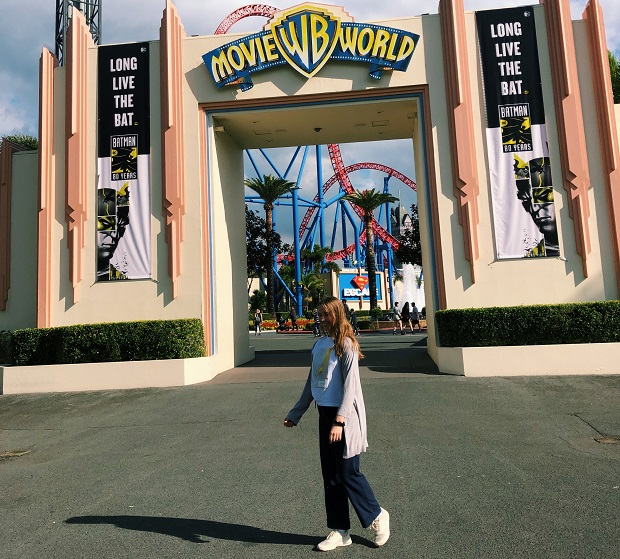 Exchange student entering Movie World
