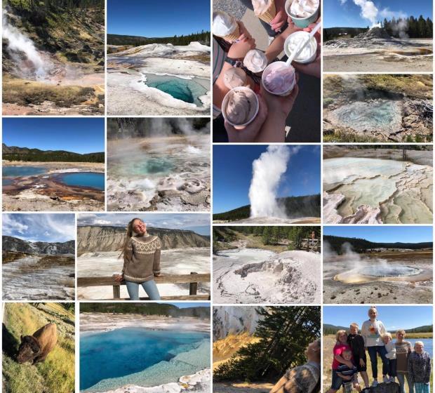 Bilder fra Yellowstone