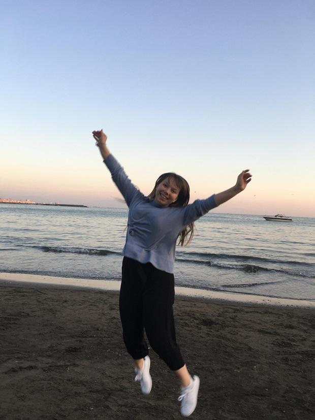 girl jumping avellino italy