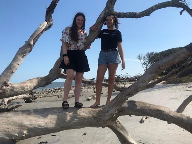 two girls in the desert