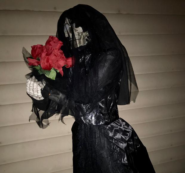 halloween svart dam