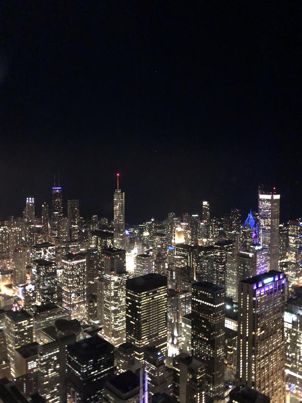 Utsikt över skyline i Chicago