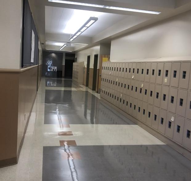 Korridor i skolan