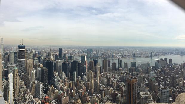Utsikt över New Yorks skyline
