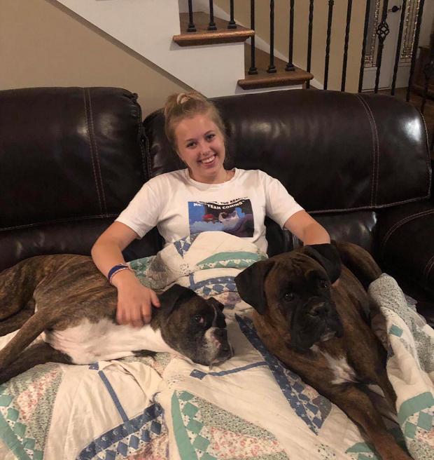 Utbytesstudent med sina hundar