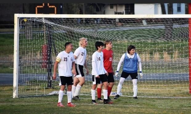 Fotbollslag spelar match i Alabama, USA