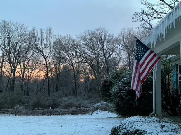 Vinter i Alabama, USA
