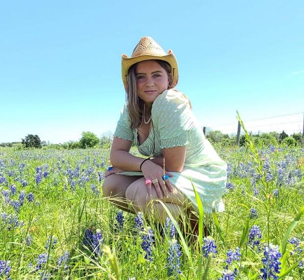 Ellen, utbytesstudent i Texas, på äng