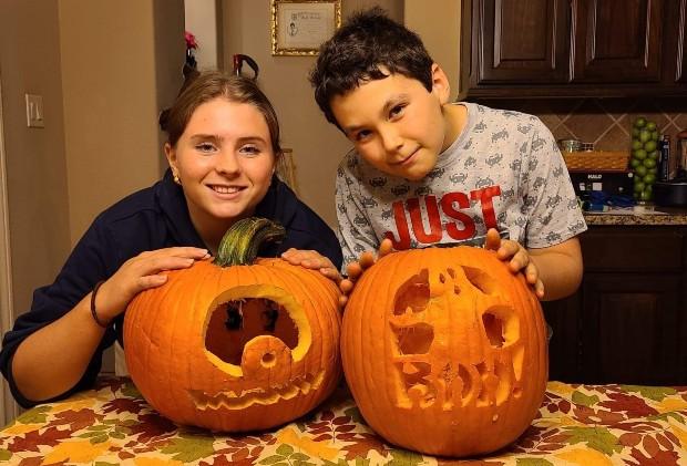 Pumpkin carving i Texas, USA