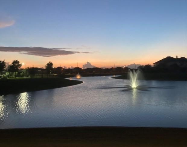 Solnedgång i Texas, USA