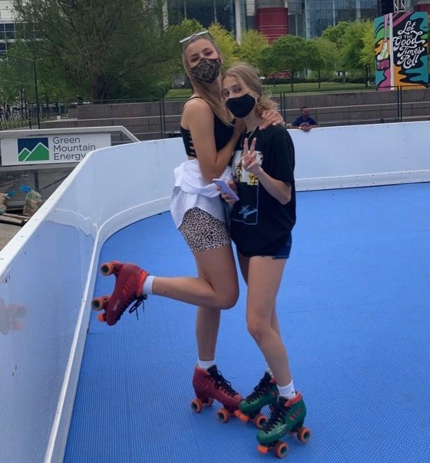 Roller skating i Texas, USA