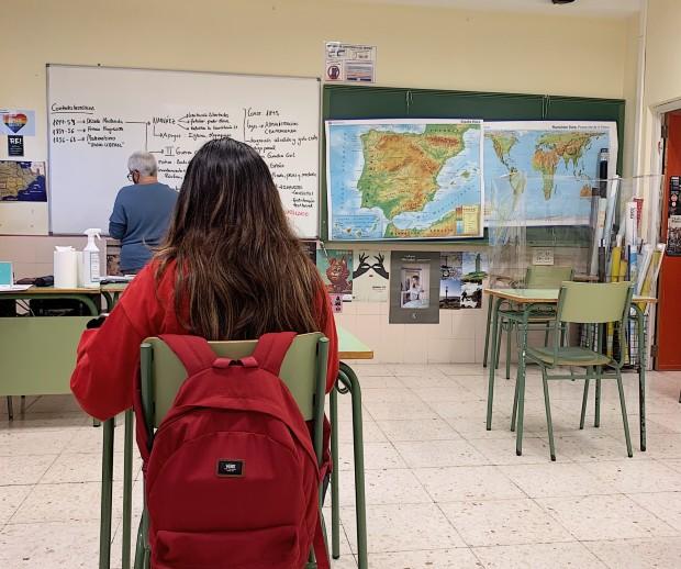 Klassrum på IES Antonio Jose Cavanilles i Alicante, Spanien