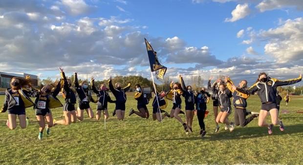 Cheerleading-laget på Manistee High School, Michigan, USA