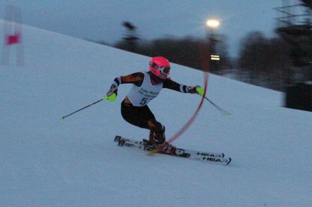 Aada Tukiainen under slalomtävlingen
